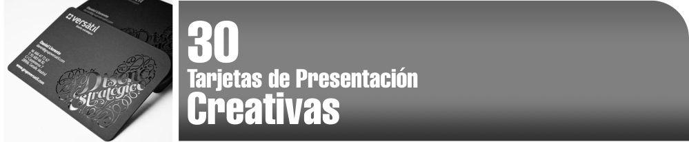 Tarjetas de presentación creativas e innovadoras