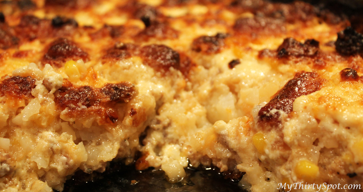 Tonight's Dinner: Cheesy Tater-tot Casserole