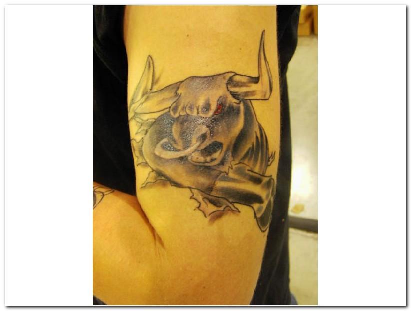 Tribal Taurus Tattoo Designs