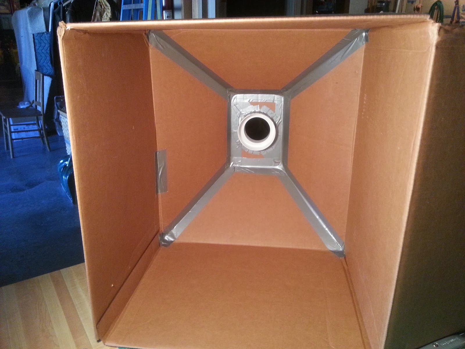 Cardboard Box Spray Paint Booth