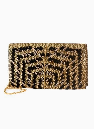 Alluring Black and Gold Clutch