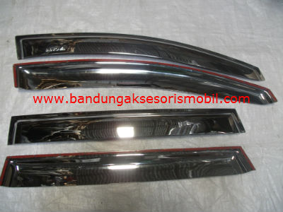 Talang Air Innova 08 Chrome Ori Import 3M Depan Belakang