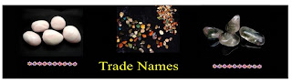 Tumbled stones, trade names for gems, trade names for tumblestones