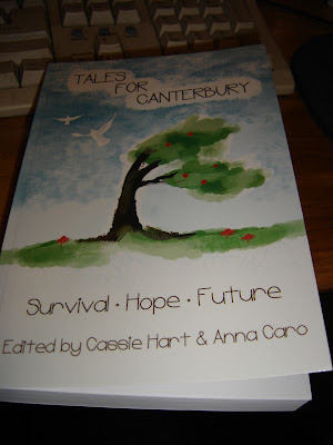 The cover of Tales For Canterbury, a bent over tree with two white doves