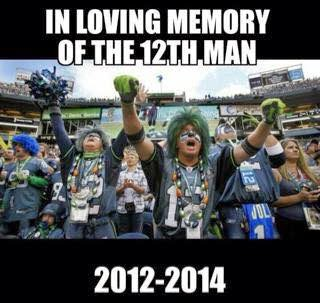 in loving memory of the 12th man 2012-2014