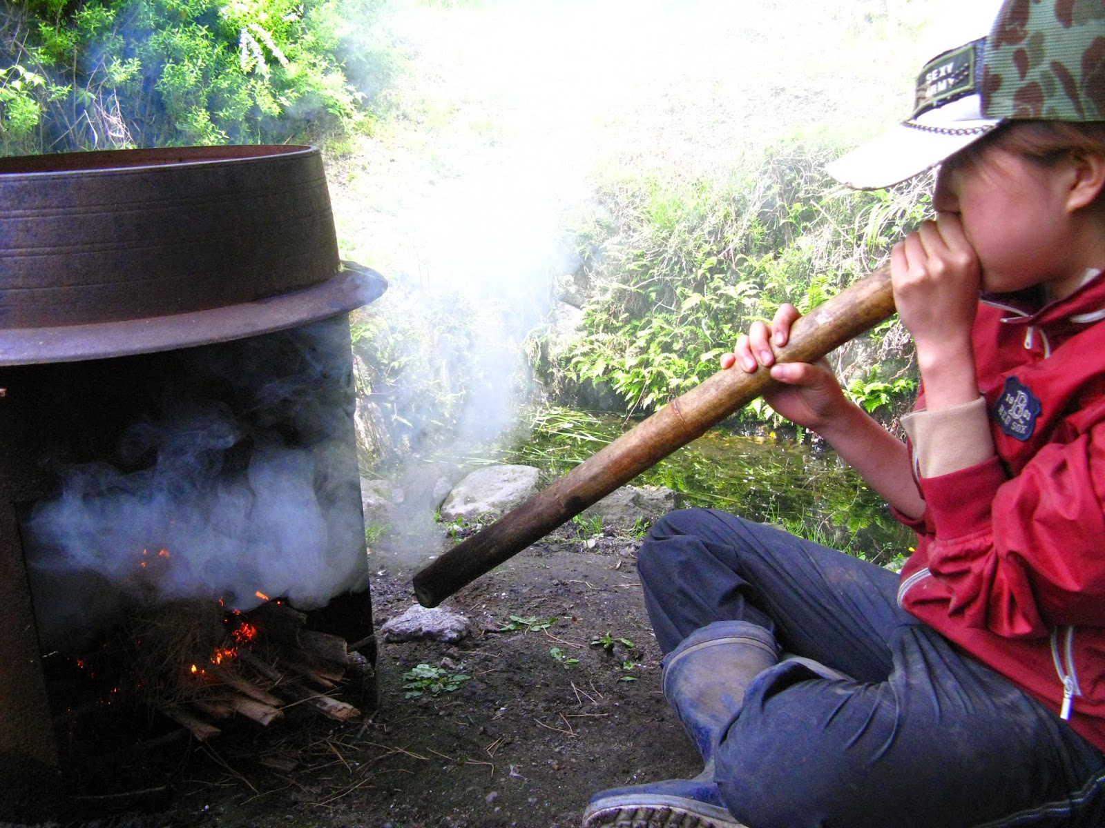 WWOOF Japan preparing bamboo shoots to eat