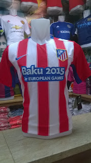 gambar photo kamera Jersey Atletico Madrid home terbaru musim 2015/2016 kualitas grade ori toko online baju bola