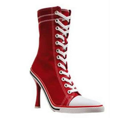 fashion and trend converse high heels sneakers