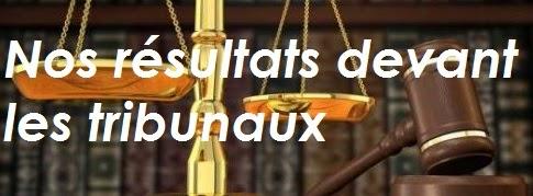 Résultats devant les tribunaux