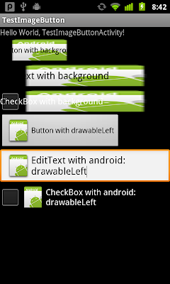 android:background vs android:drawableLeft/drawableTop/drawableRight/drawableBottom