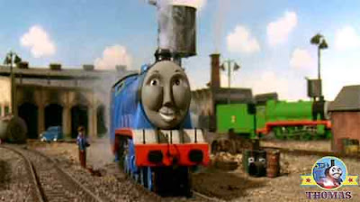 Thomas and friends Gordon the big engine cleaned and polished Gordons paint work shone blue brightly