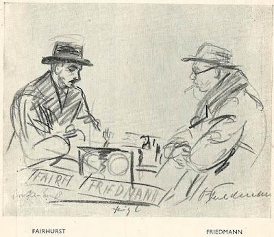 Partida de ajedrez Fairhurst-Friedmann en el Torneo de Londres 1946