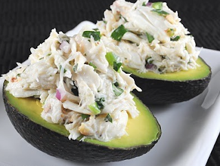 Cilantro and Lime Crab Salad in Avocado