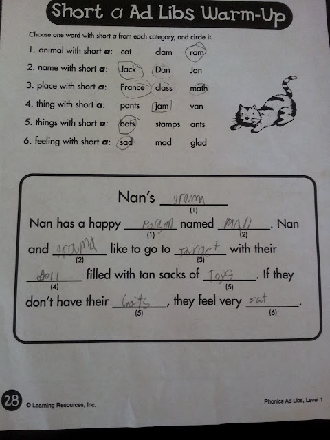 Mad Libs gone wrong