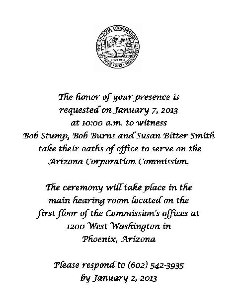 Swearing In Ceremony Invitation Samples Pictures to Pin on ...