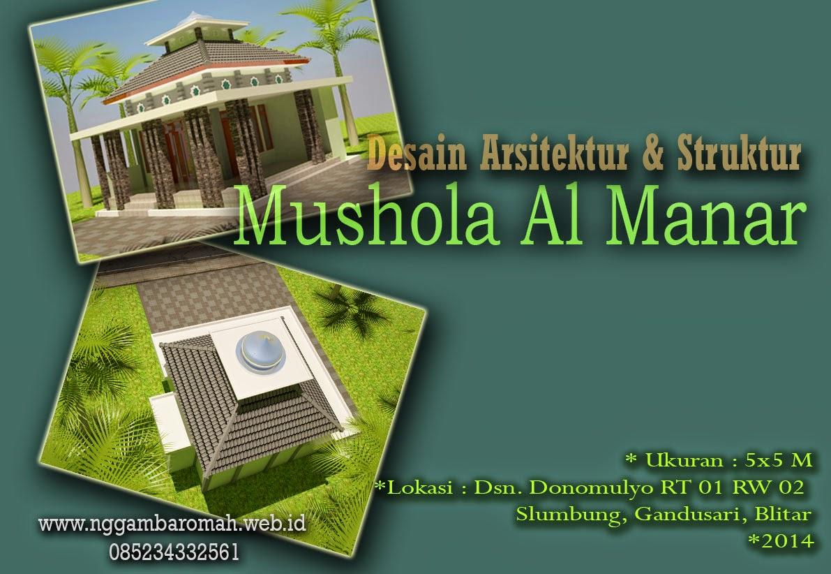 Mushola gaya Minimalis Tradisional 5x5 M di Blitar