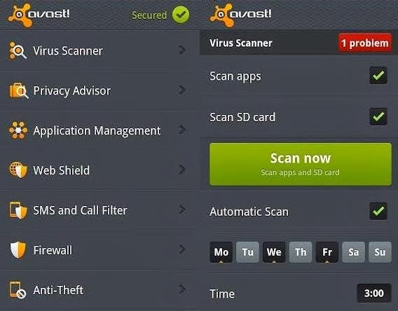 best antivirus for android phones - avast mobile security