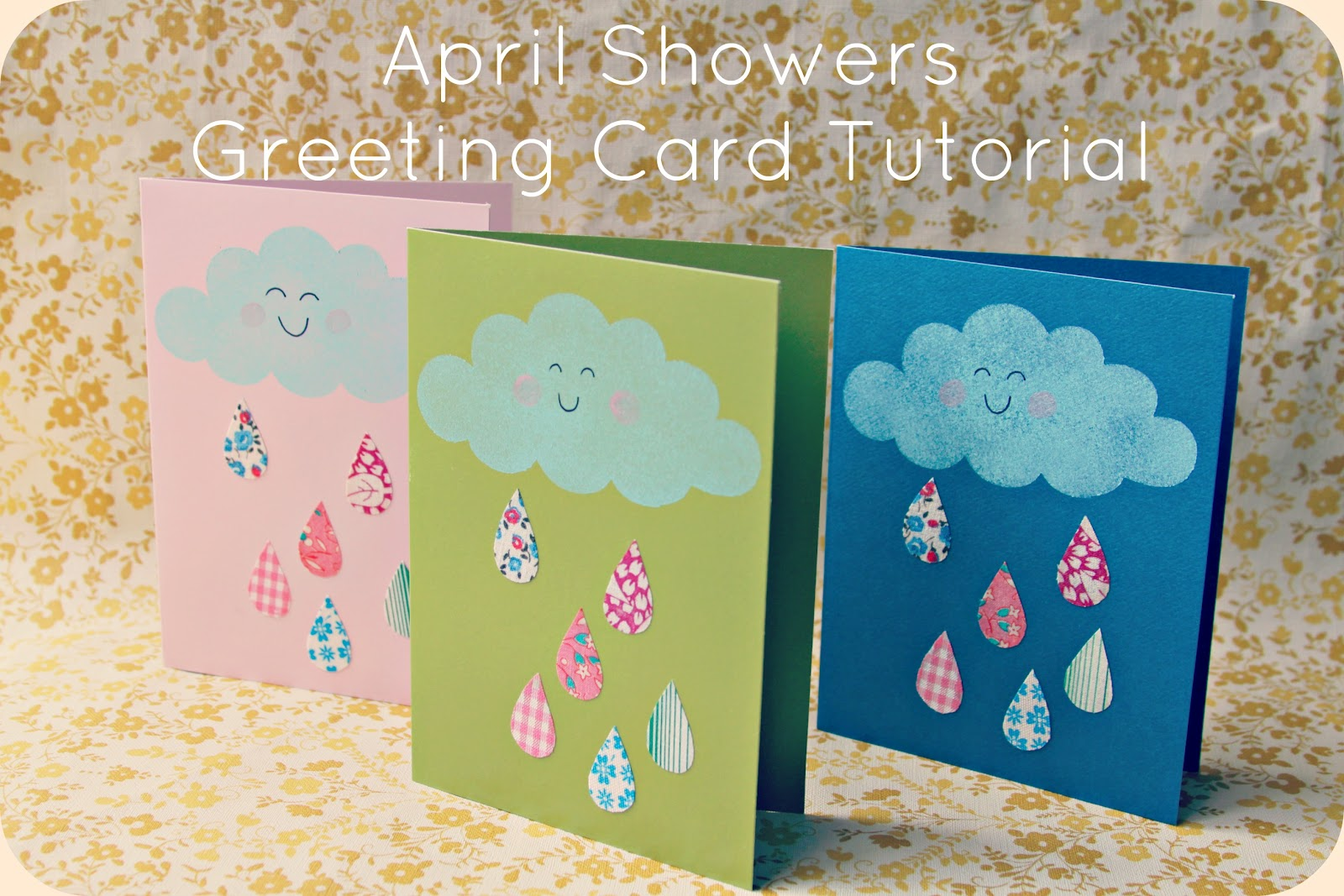 Whimsy Love Diy April Showers Greeting Card