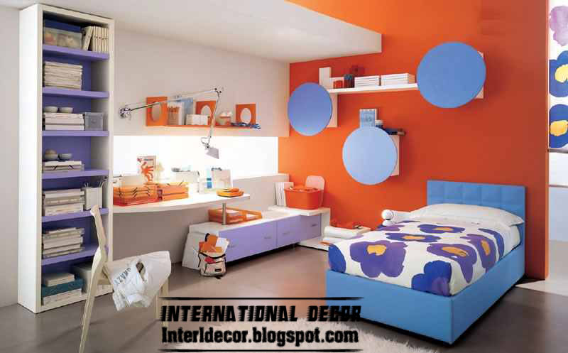 International decor: Latest kids room color schemes paint ideas 2013