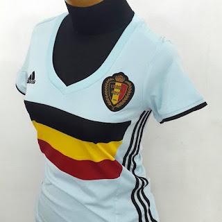 Jersey wanita timnas Belgia away terbaru Adidas Euro 2016 di enkosa sport toko online terpercaya