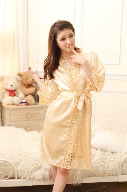 gambar Bajutidur Kimono sl1209 Gold