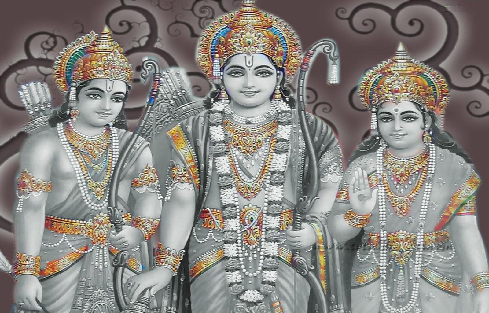 Hindu Hd Wallpaper Shree Ram Sita And Hanuman