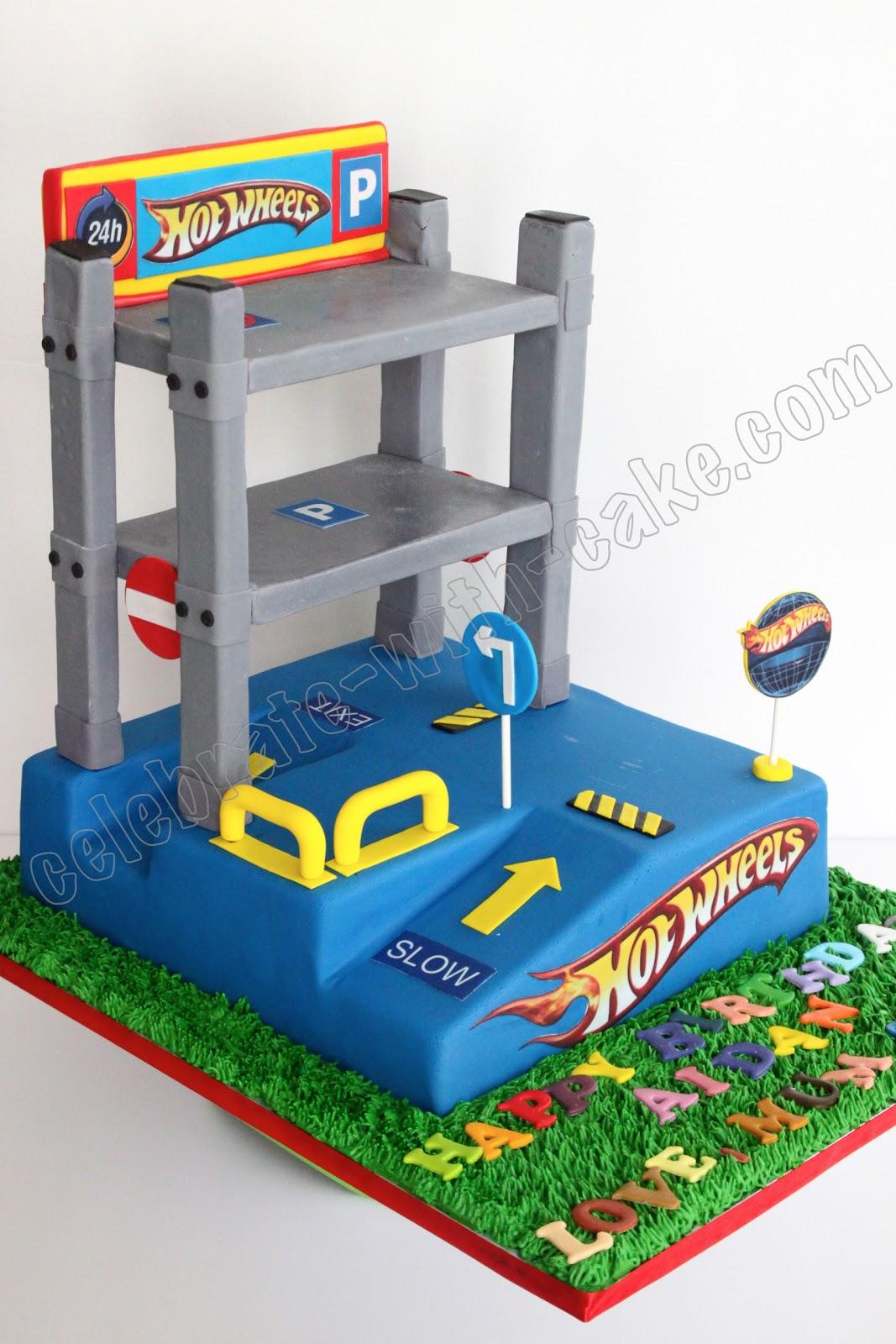 Celebrate with Cake!: Hot Wheels Garage Cake