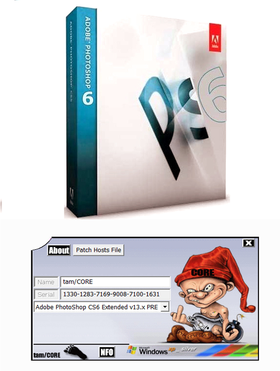 Gerador de serial para  Adobe Photoshop.CS6 v13.0