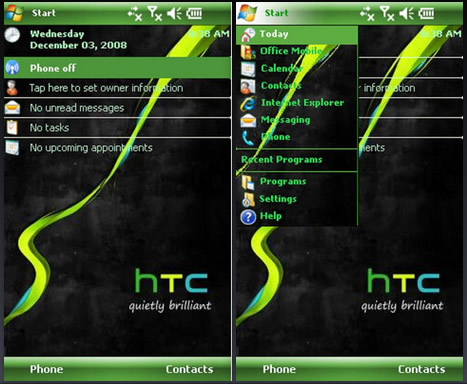 Theme Name : H T C Xperia Theme