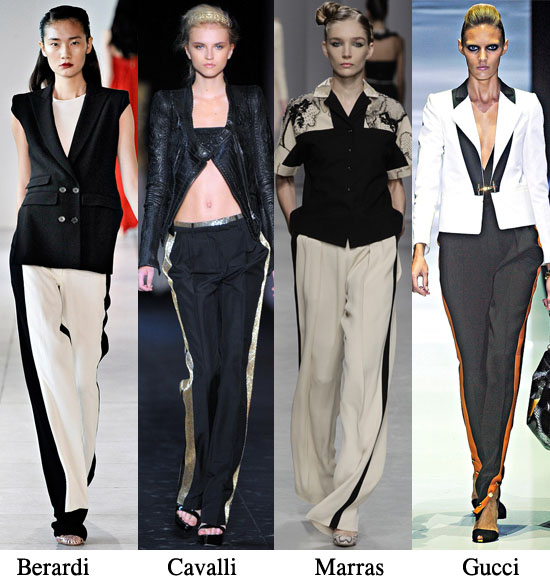 two tone trousers,track trousers,diy,fashion diy,spring 2012 trends,spring 2012