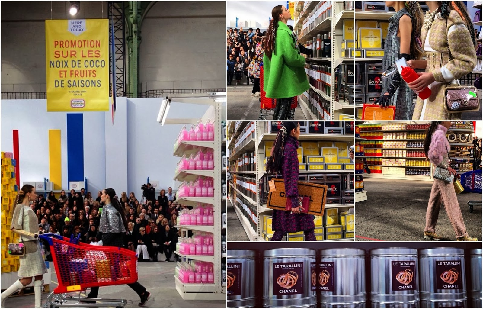 Chanel's Supermarket Sweep at F14 Paris Fashion Week