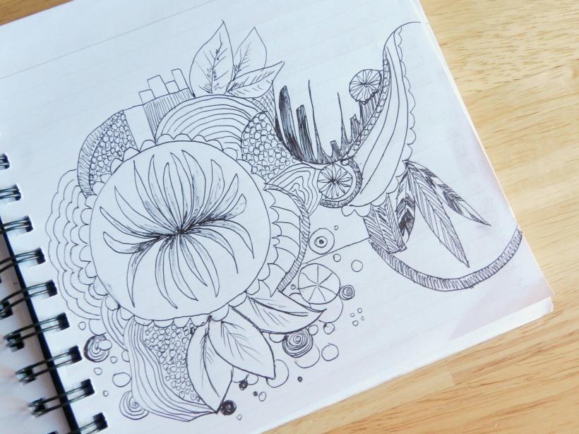 ink pen doodle (grow creative)