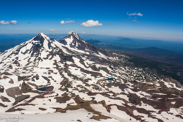 South Sister Summit Middle sister north sister view sisters wilderness Bend Oregon Central Oregon  summer hiking Jaime Weatherford