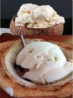Es krim kelapa muda
