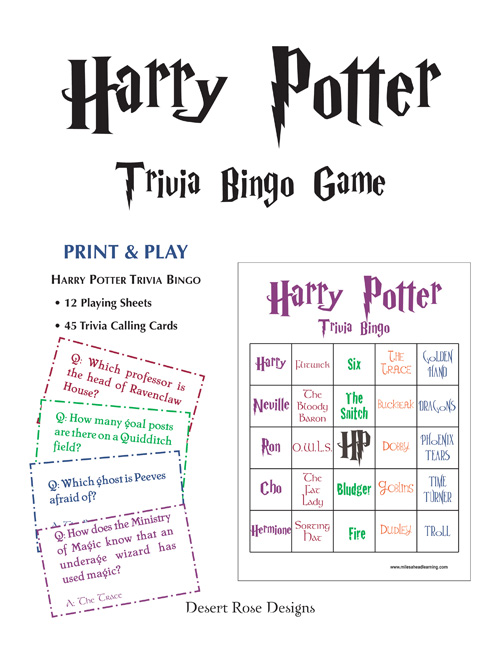 Playful image pertaining to harry potter quiz printable