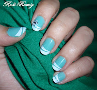 Nail art sting french manicure