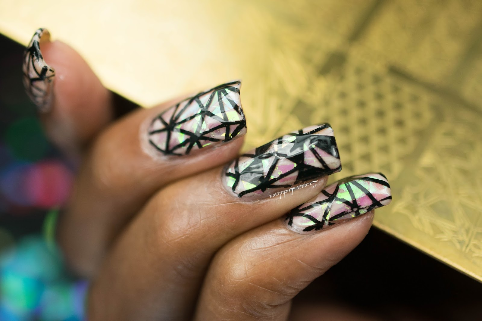 Lacquer Lockdown: Pet\'la Plate Abstract Shattered Glass Nail Art + ...