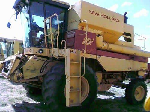 new holland combine salvage