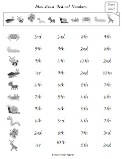 Ordinal Number Worksheets and Printables