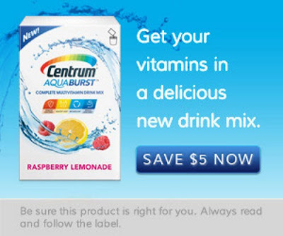 Centrum Aquaburst Multivitamin Drink Mix Coupon