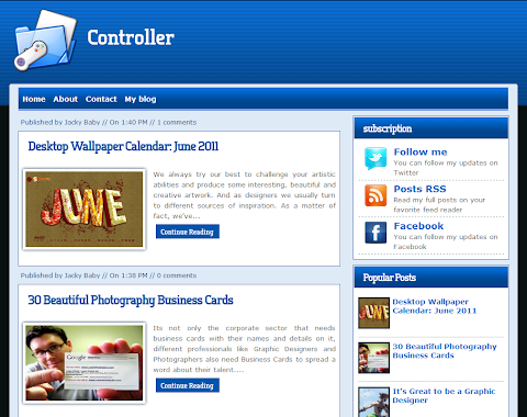 Controller Blogger Theme