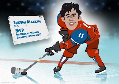 Evgeni Malkin, MVP of the ice hockey world championship 2012