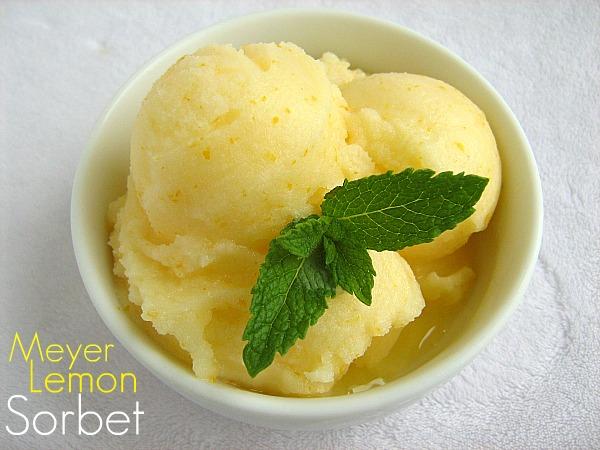 Meet Me in the Kitchen: Meyer Lemon Sorbet