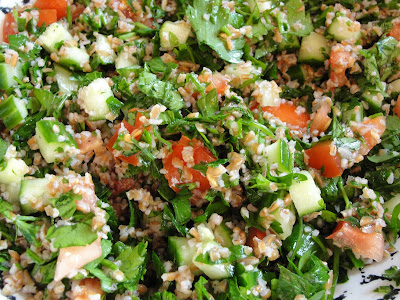 tabouleh salad recipe in a bowl