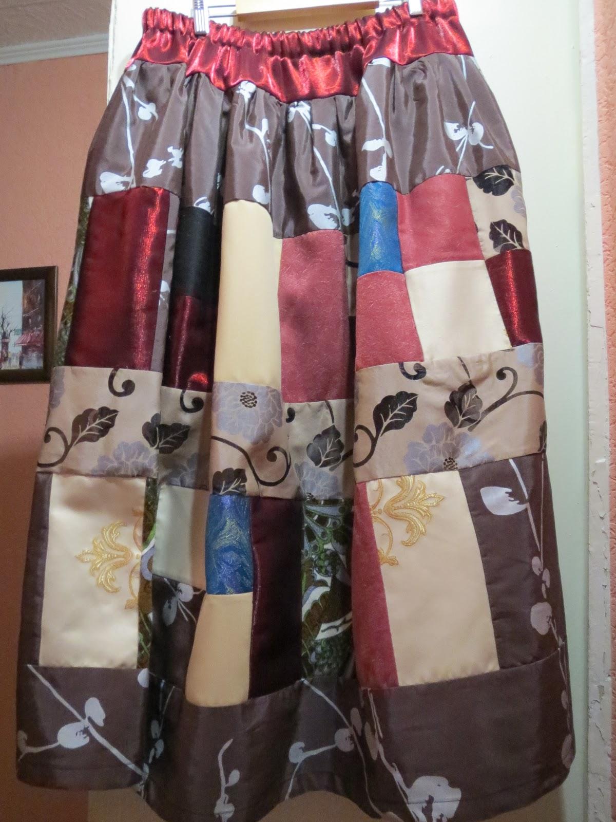 Сшить юбку для бабушки