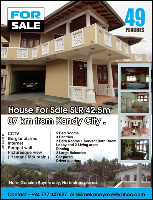 49 Perch land with a house for sale | 7km to Kandy city.