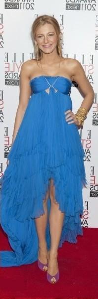Вечерний макияж к синему платью