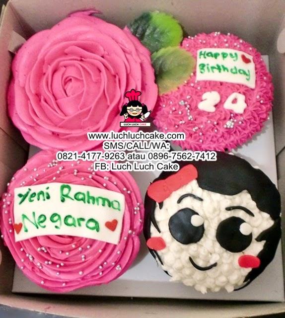 Cupcake pink Buttercream Daerah Surabaya - Sidoarjo
