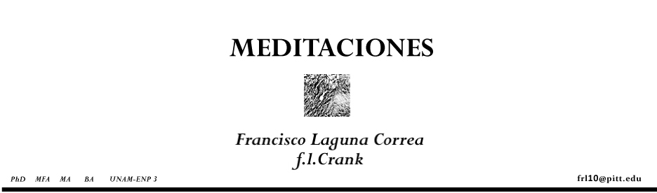 Meditaciones de un lector remiso. Blog de Francisco Laguna Correa