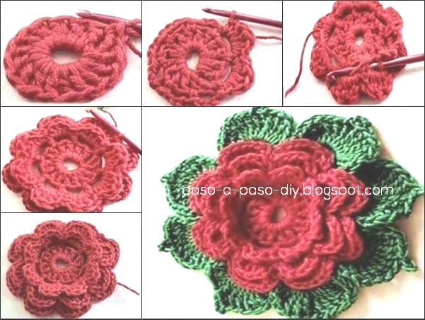 Cmo tejer flor crochet DIY Paso a Paso